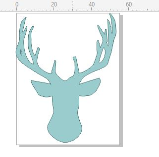 Deer pack of 10  55 x 70mm